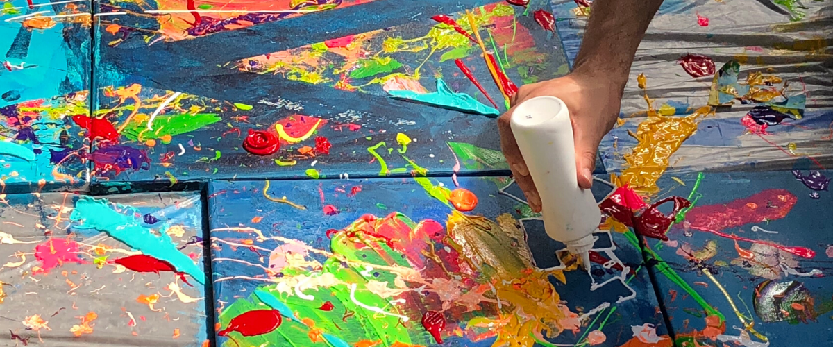 Grabbelpas: Action Painting